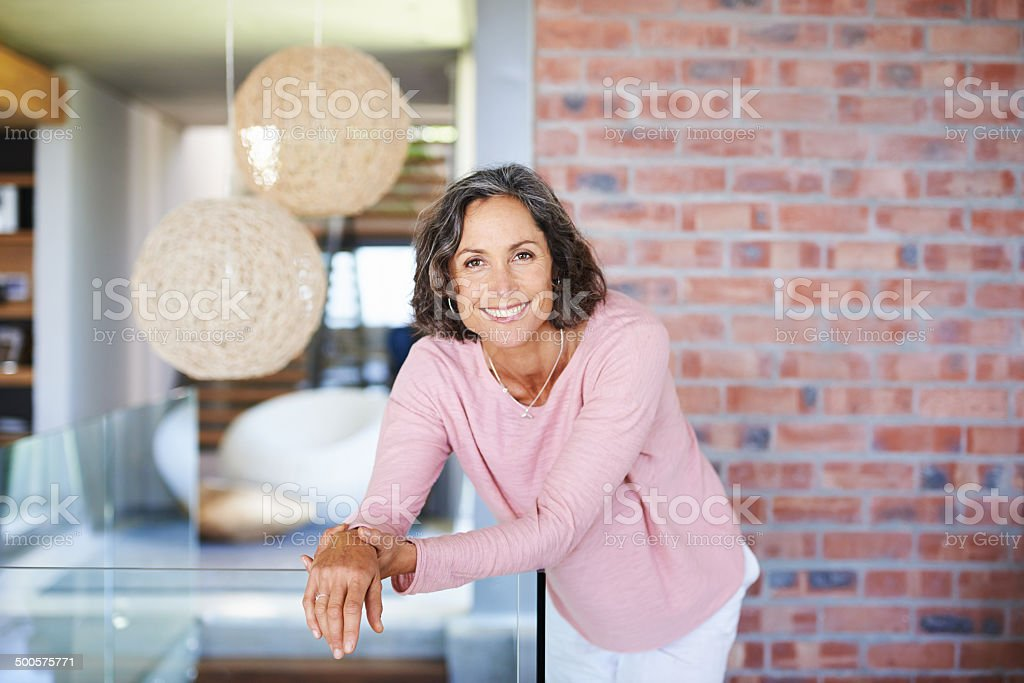 Spending a relaxed weekend at home stock photo