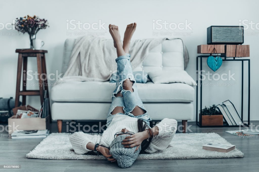 Spending carefree time. stock photo