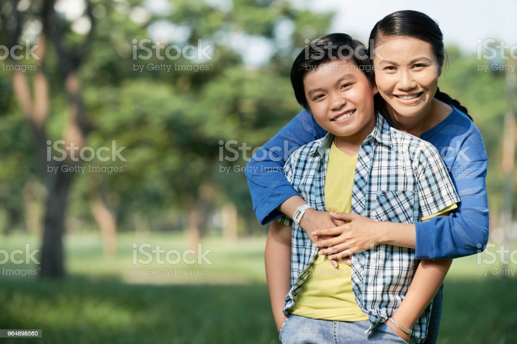 Spending Day with Mom at Public Park - Royalty-free Adult Stock Photo