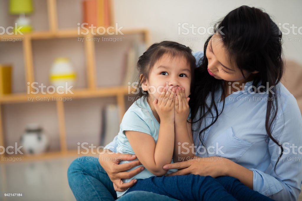 Spending Day with Mom stock photo