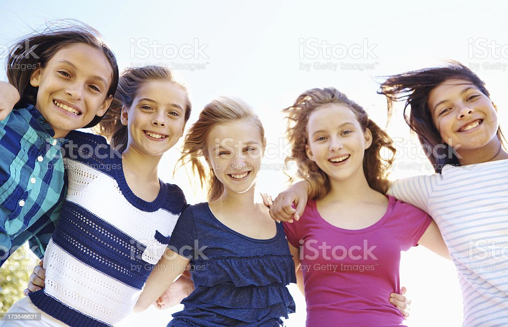 Spending our summer vacation together! royalty-free stock photo