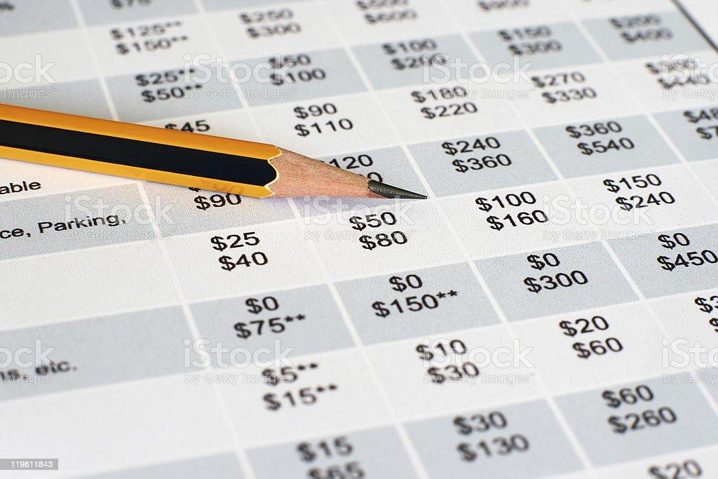 Spending plan stock photo