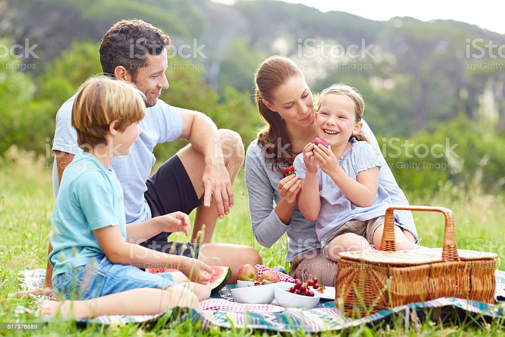 Spending quality time together stock photo