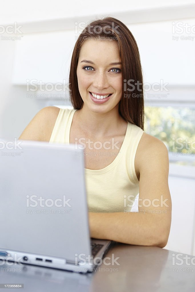 Spending some time online royalty-free stock photo