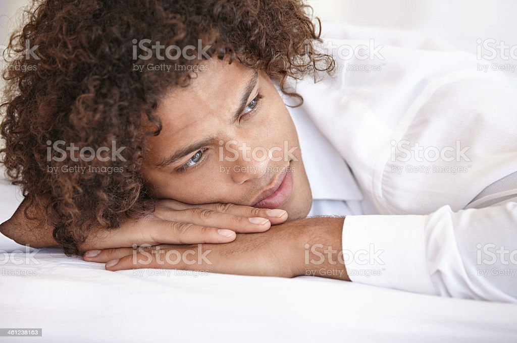Spending some time thinking... royalty-free stock photo