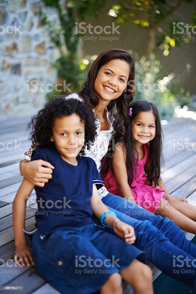 Spending some time with the kids stock photo