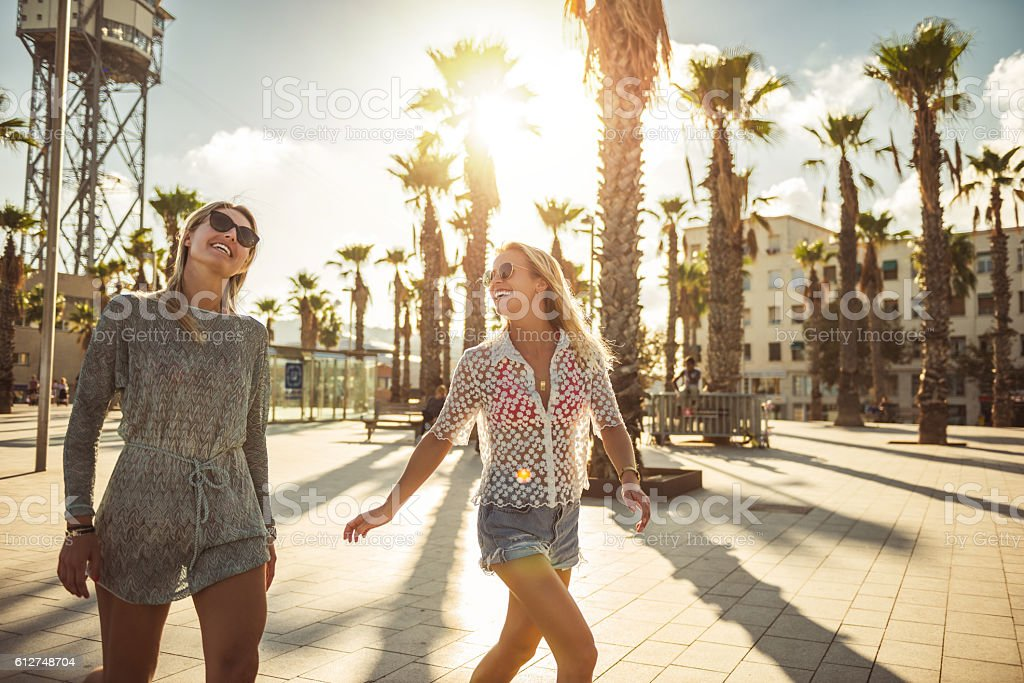 Spending summer days together stock photo