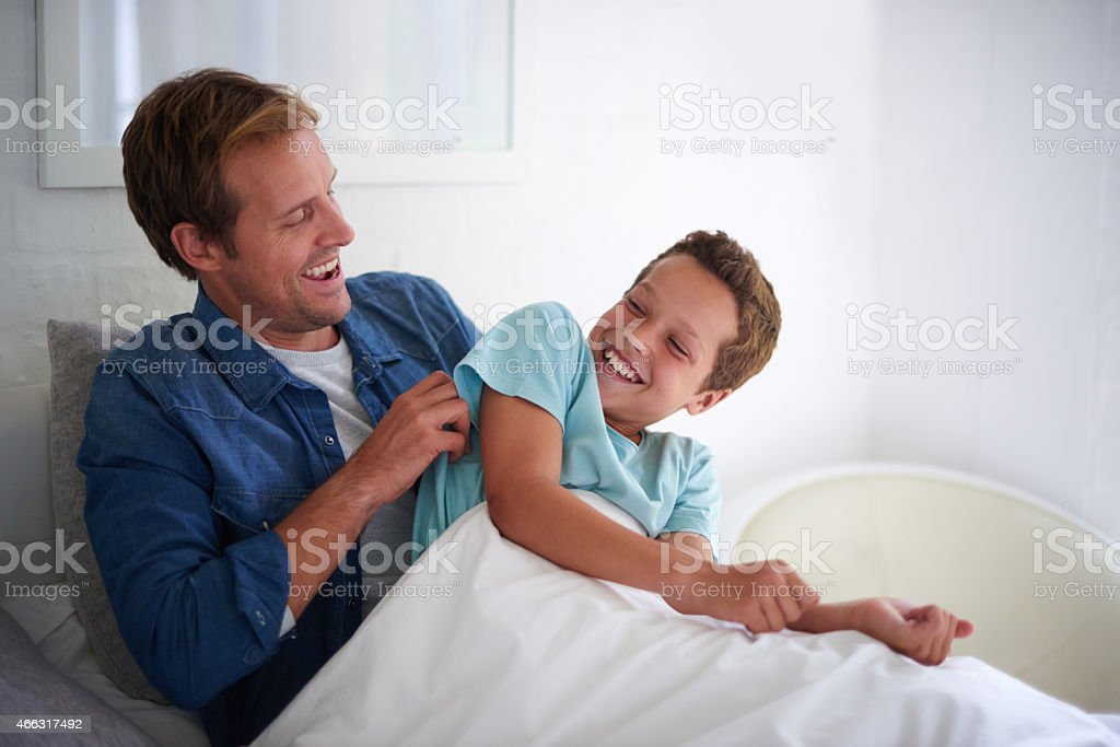 Spending the day with Dad stock photo