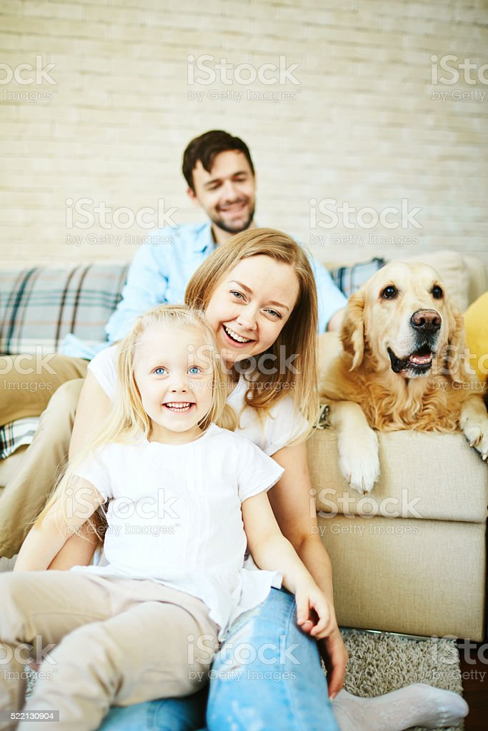 Spending time at home stock photo