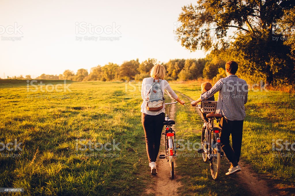 Spending time outdoors stock photo
