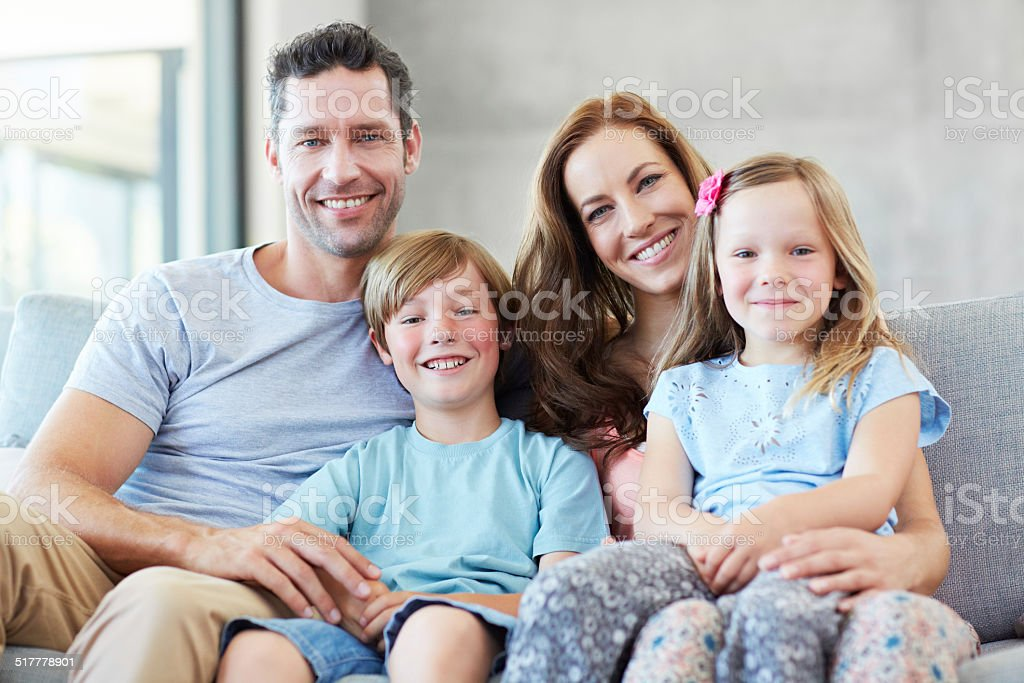 Spending time together as a family stock photo