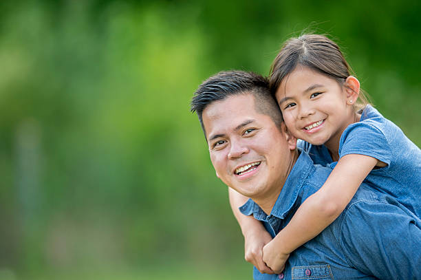 Spending Time Together on Father's Day stock photo