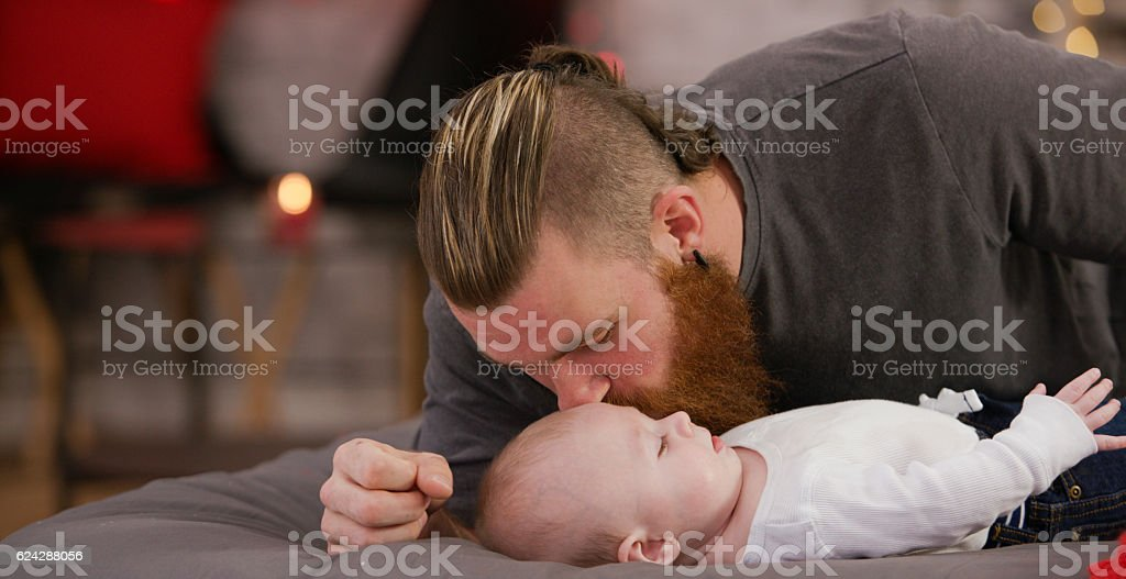 Spending Time with Dad stock photo
