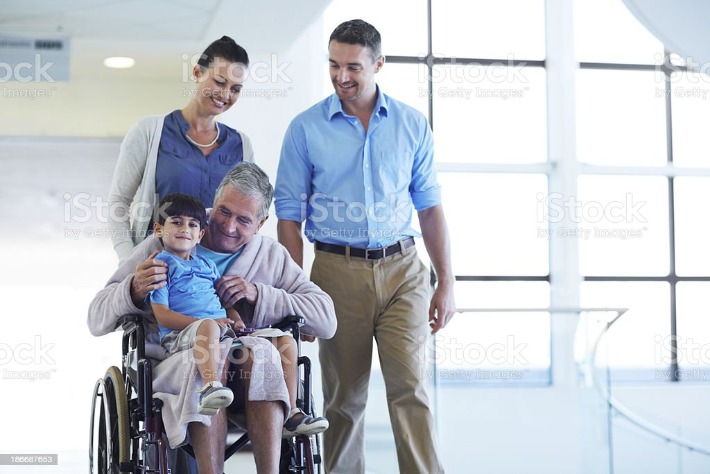 Spending time with his family royalty-free stock photo
