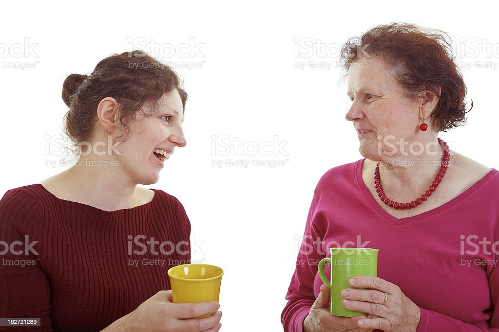 Spending time with mom royalty-free stock photo