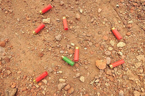 Spent Cartridges stock photo