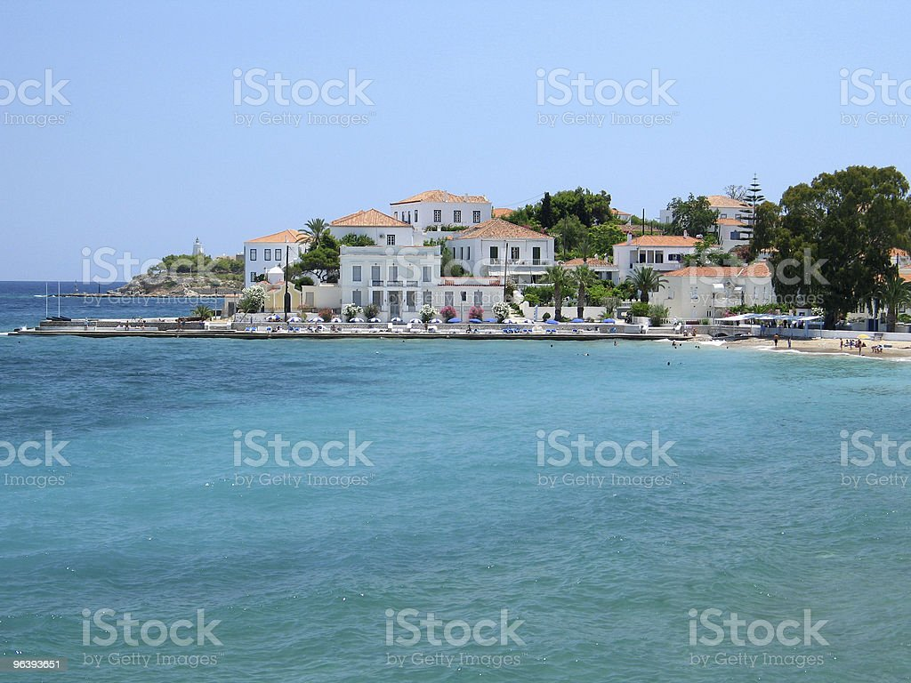 Spetses Town stock photo