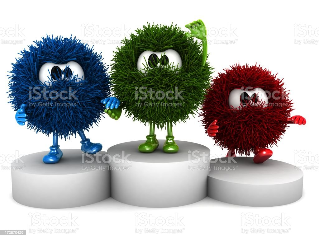Sphefurs on the podium royalty-free stock photo