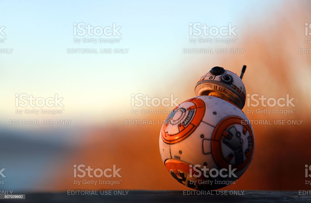 Sphere At Sunset stock photo