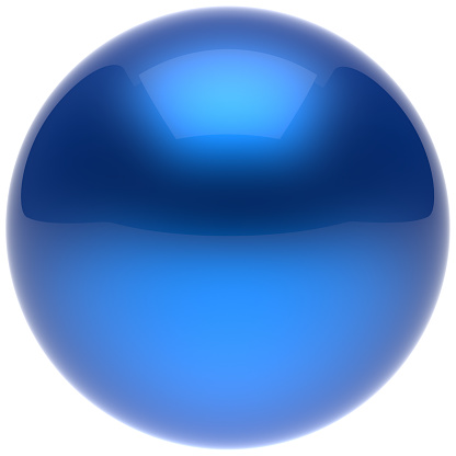 istock Sphere ball button circle round basic solid bubble figure blue 526559984