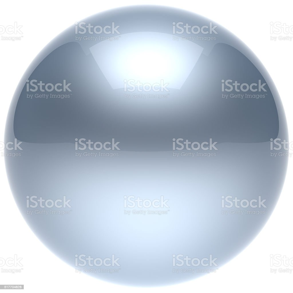 Sphere ball button circle round basic solid bubble figure white stock photo