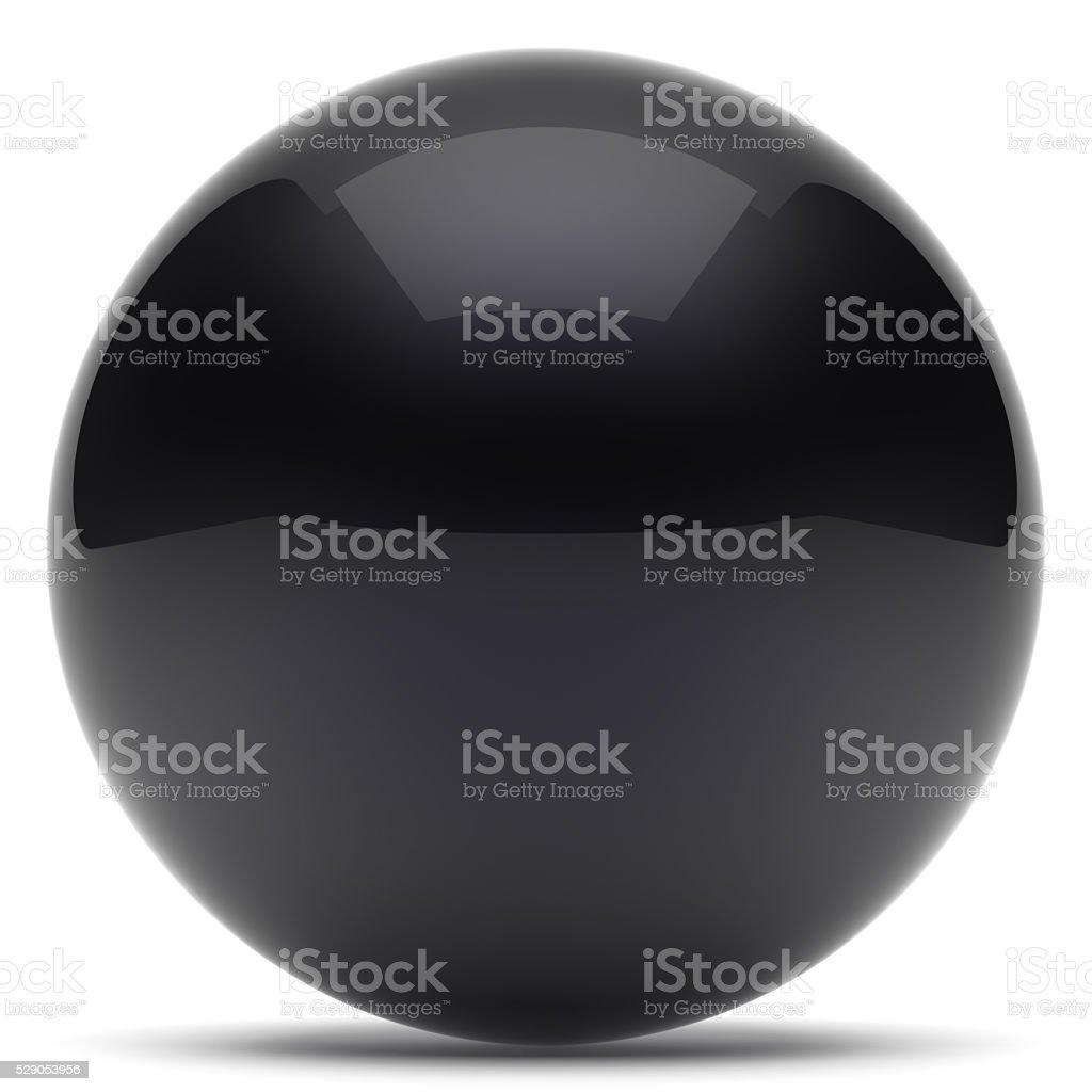 Sphere ball geometric shape button round basic circle black stock photo