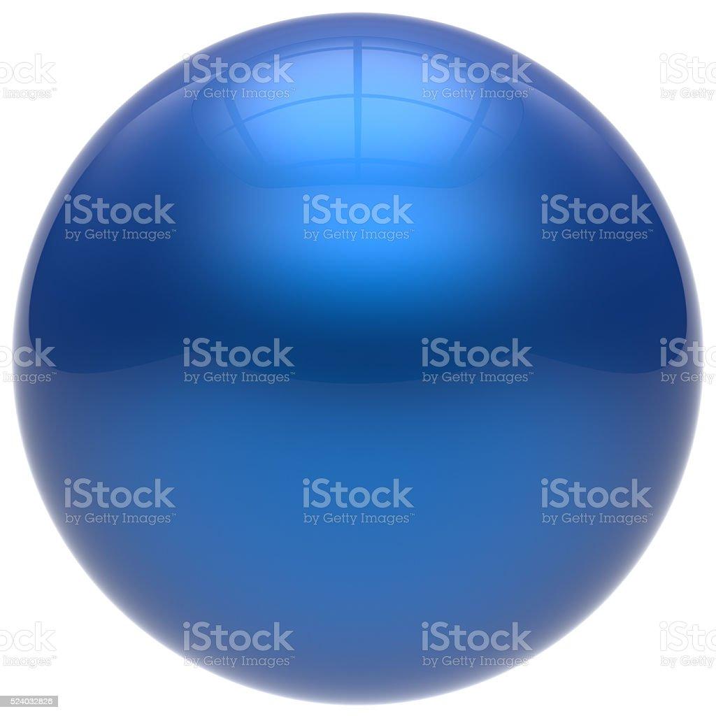 Sphere button round ball blue geometric shape basic circle stock photo