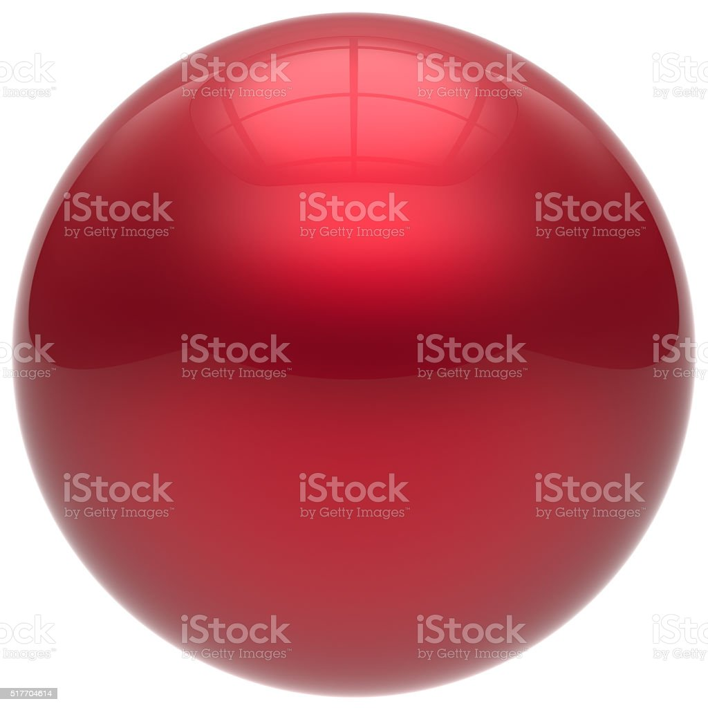 Sphere button round ball red geometric shape basic circle stock photo