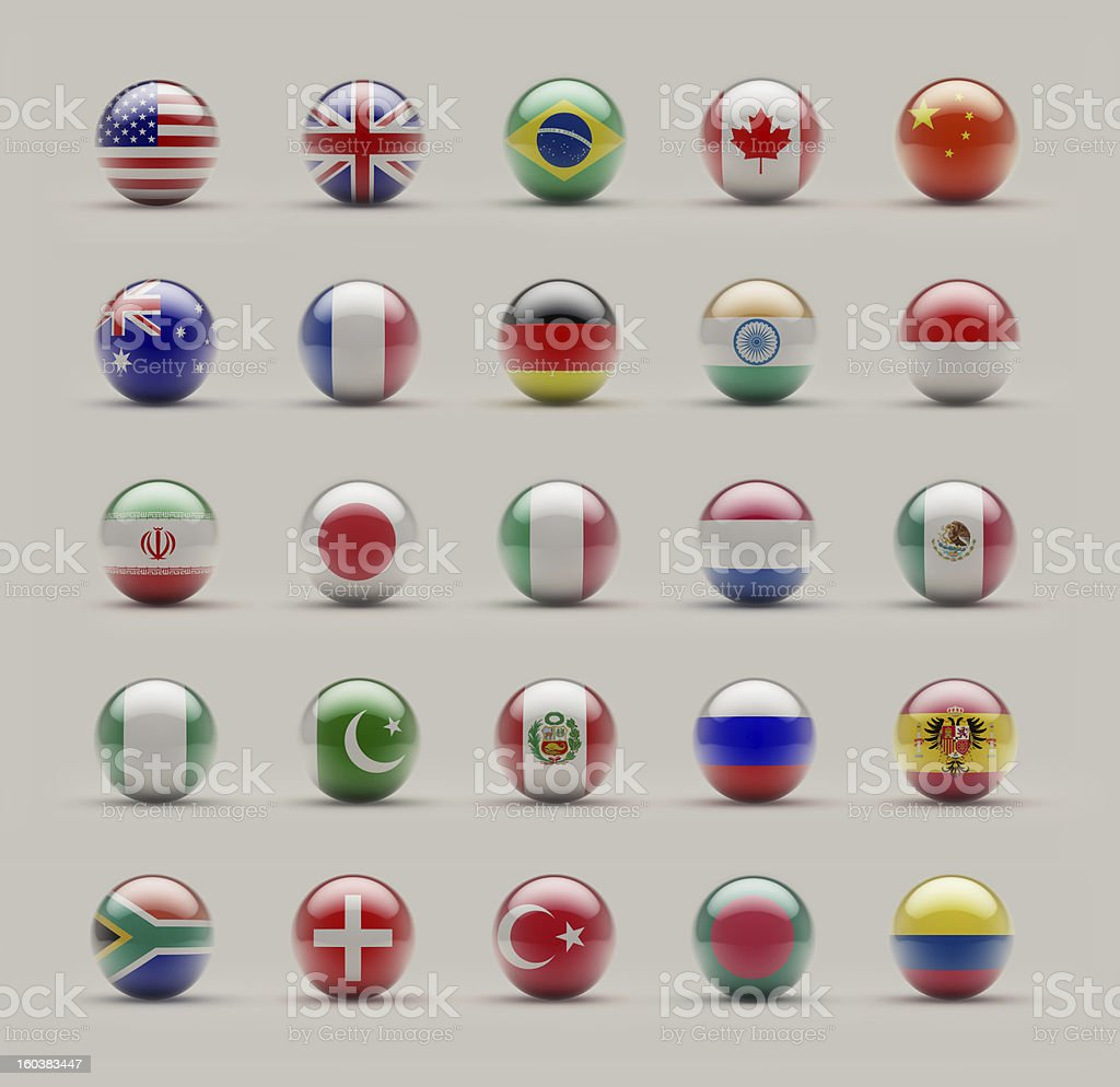 Sphere Flags royalty-free stock photo