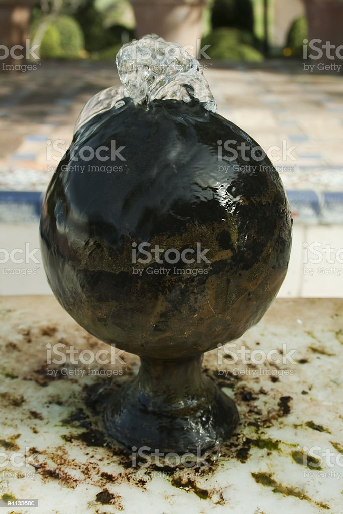sphere fountain royalty-free stock photo