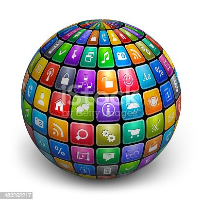 istock Sphere from color application icons 483262217