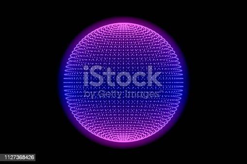 istock Sphere, Global digital mesh network 1127368426
