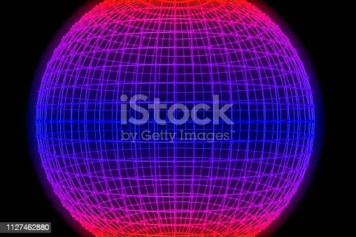 istock Sphere, Global digital mesh network 1127462880