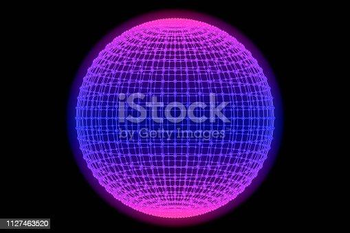 istock Sphere, Global digital mesh network 1127463520