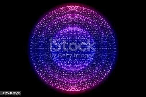 istock Sphere, Global digital mesh network 1127463553