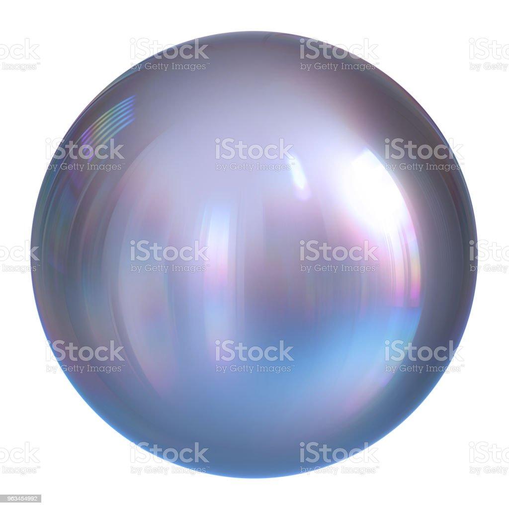 Kula kula kula biała perła, okrągły przycisk srebrny, chromowana kula - Zbiór zdjęć royalty-free (Kula - Figura geometryczna)