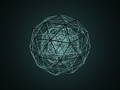 istock Sphere (isohedron) glowing from the inside 1178339525