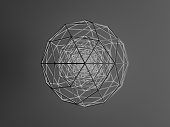 istock Sphere (isohedron) glowing from the inside 1178339537