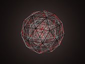 istock Sphere (isohedron) glowing from the inside 1178339538