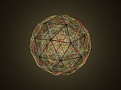 istock Sphere (isohedron) glowing from the inside 1178339579