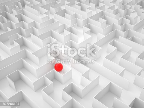 954744070istockphoto Sphere in an Abstract Maze 607266124