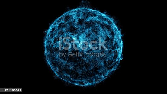 istock Sphere of perticle. Abstract background. 1161463811