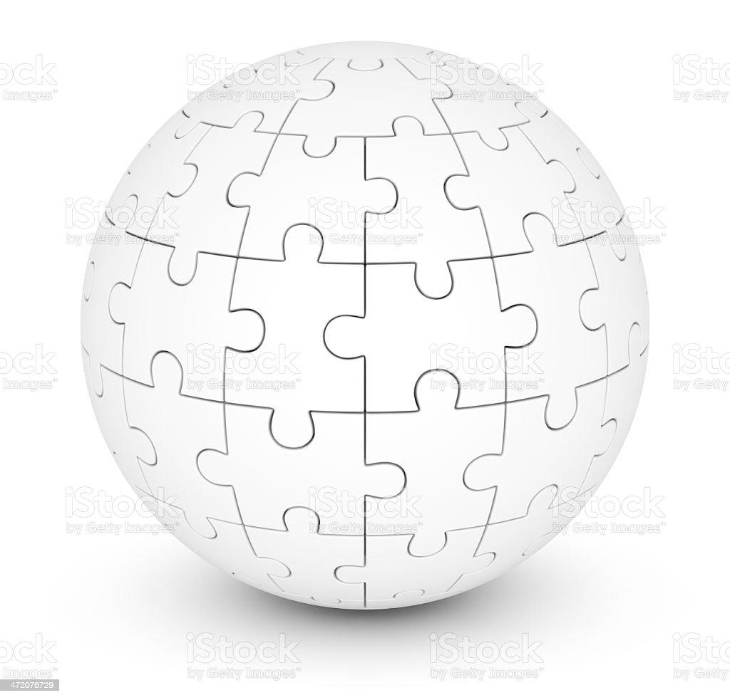 Esfera de rompecabezas - foto de stock