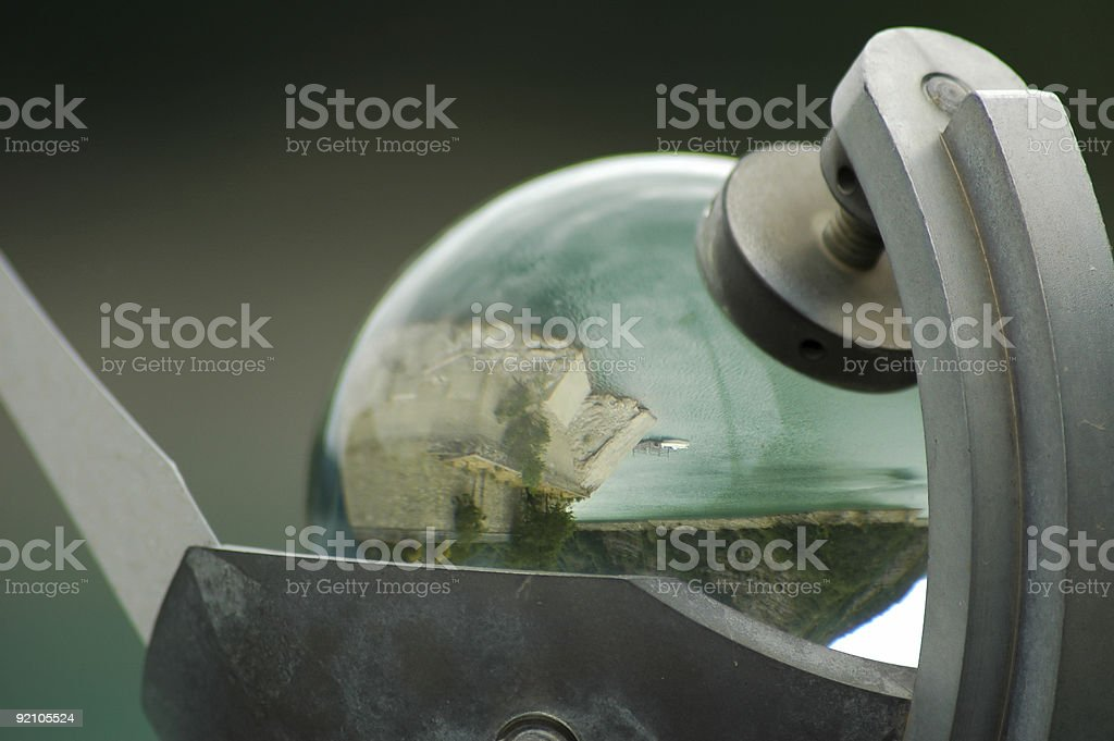 Sphere reflections stock photo