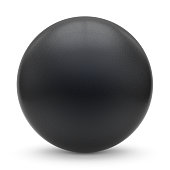 Sphere round button black matted ball basic circle geometric shape solid figure simple minimalistic atom single drop object blank balloon design element empty. 3d render illustration isolated