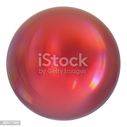 869781130 istock photo Sphere round button red, ball basic, circle geometric shape 963477692