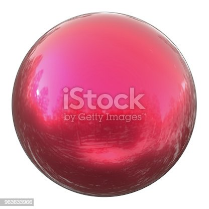 869781130 istock photo Sphere round globe button red, ball basic solid figure 963633966