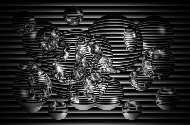 3D Kugeln und sprudelt grafischen Hintergrund – Foto