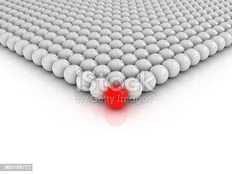 istock Spheres Pattern One Red - 3D Rendering 965488772