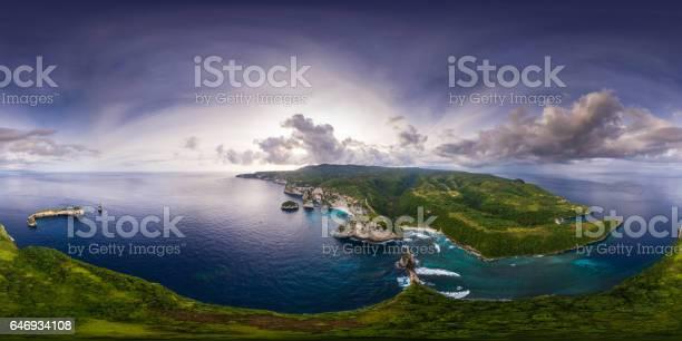 Spherical 360 degrees seamless aerial panorama of the coastli picture id646934108?b=1&k=6&m=646934108&s=612x612&h=d0c37wr10suow01je62k68syp b48az82sqsbkifjsw=